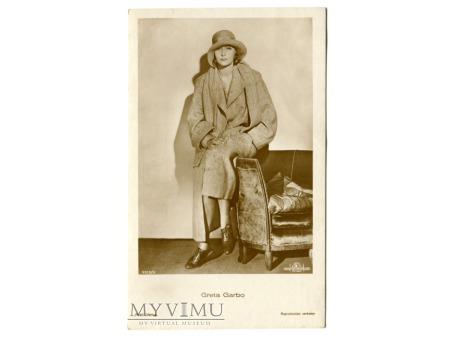 Duże zdjęcie Greta Garbo Verlag Ross 5513/3 Vintage Postcard