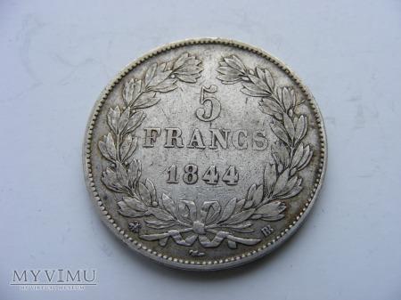 5 FRANKÓW - 1844 BB
