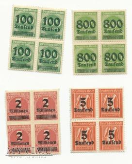 Niemieckie znaczki z przedrukiem
