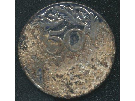 50 groszy 1938 stal niklowana