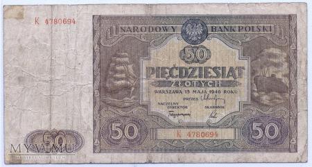 Duże zdjęcie 50 złotych - 1946.