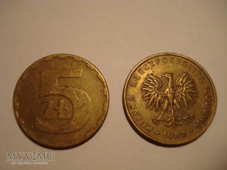 5 ZŁ zbiór 6 monet