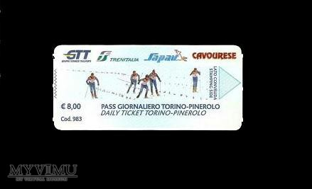 Bilet komunikacji miejskiej z Turynu (Włochy).