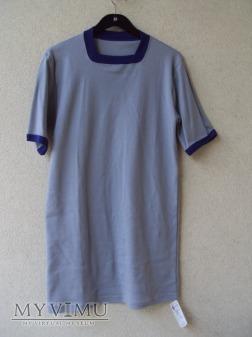 Koszulka z krótkimi rękawami i lamówką szara