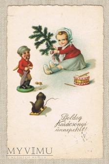 Węgry Wesołych Świąt i dziadek do orzechów