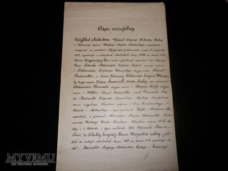 Dokumenty z Wydział Stanów Królestwa Galicji ...