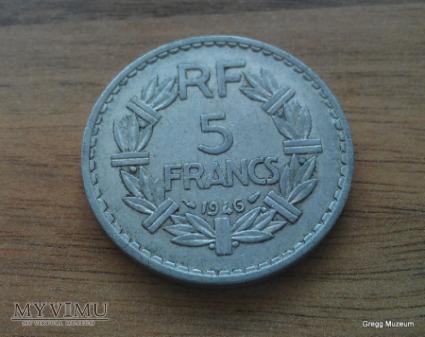 5 Francs 1946