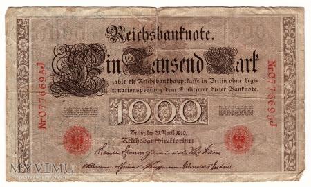 Niemcy, 1000 marek 1910r. Ser.J