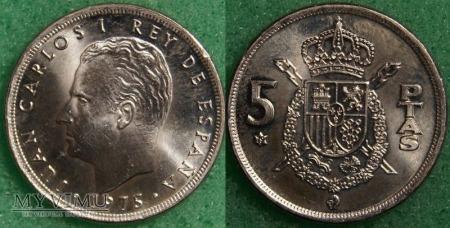 Hiszpania, 5 PTAS 1975