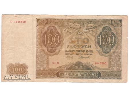 sto złotych/bank emisyjny