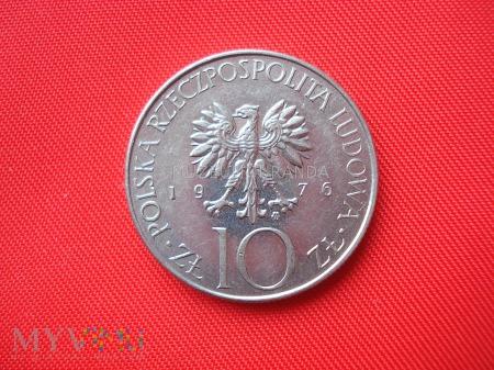 10 złotych 1976 (Adam Mickiewicz)