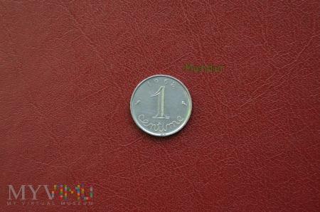 Moneta francuska: 1 centime 1968