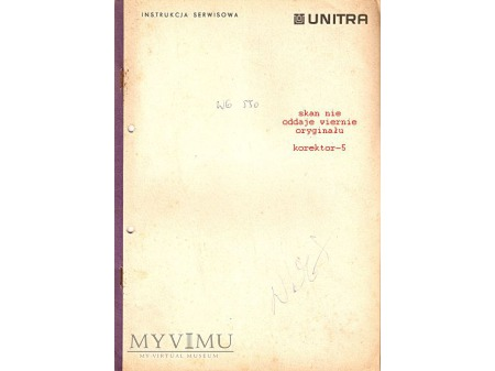 Instrukcja serwisowa gramofonu WG-550