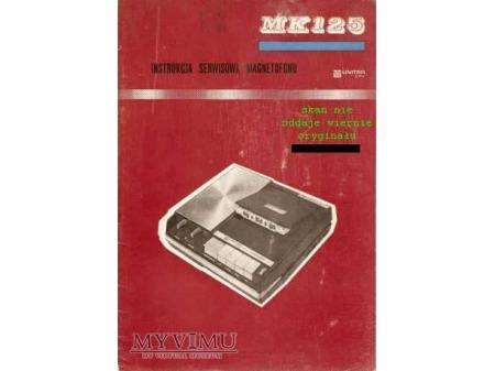 Instrukcja serwisowa magnetofonu MK-125