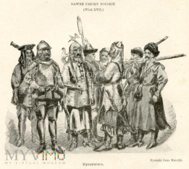 Matejko - Ubiory polskie z XVII w. Rycerstwo
