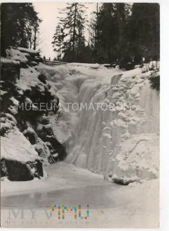 Karkonosze - Wodospad Szklarki zimą - 1962