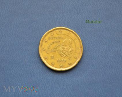 Moneta: 20 euro cent - Hiszpania