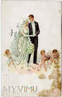 Duże zdjęcie On i Ona - Na ślubnym kobiercu - 1923