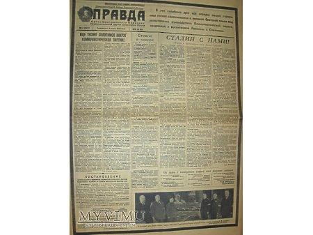 """Duże zdjęcie Gazeta """"Prawda"""" nr.67 08.03.1953- Pogrzeb stalina"""