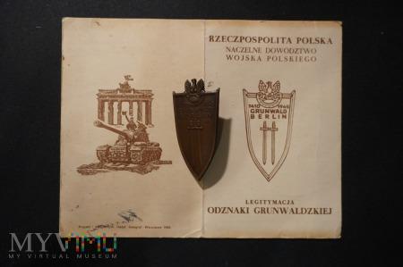 Legitymacja wraz z Odznaką Grunwaldzką - ciekawa