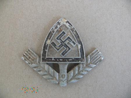 Emblemat z czapki Reichtsarbeitsdienst