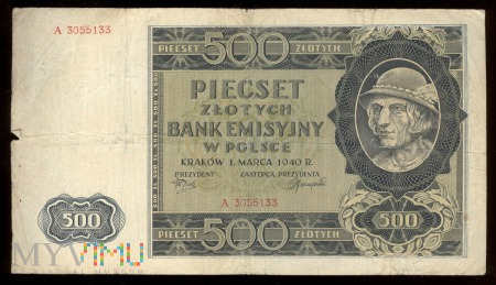 500 zł 1940