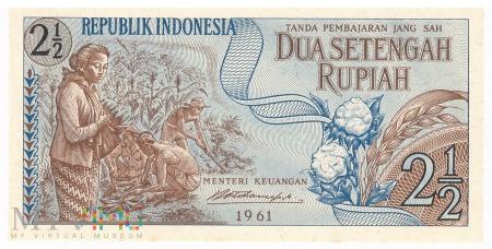 Indonezja - 2,5 rupii (1961)