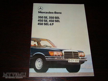 Prospekt MERCEDES W116 350SE-450SEL 6.9