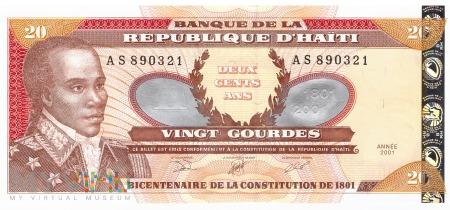 Haiti - 20 gourdes (2001)