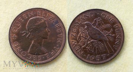 Nowa Zelandia, 1 penny 1957