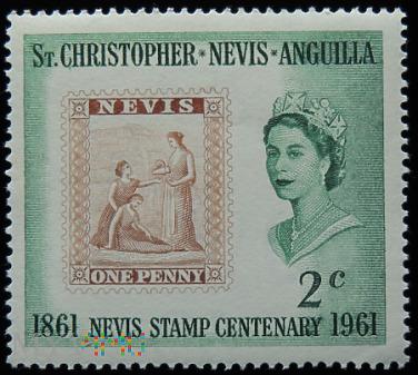 St.Christopher Nevis Anguilla 2c Elżbieta II