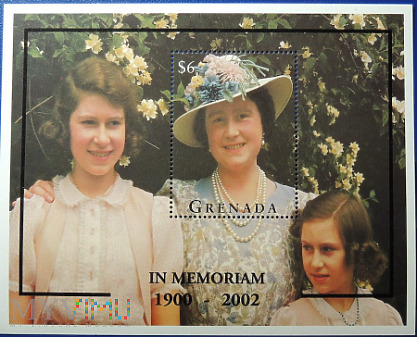 Grenada 6$ Ku pamięci królowej matki 1900 - 2002