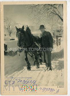 Zimowa sceneria - obieg 1951