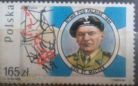 Gen.St. Maczek na znaczku pocztowym