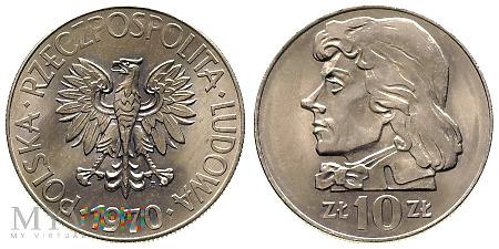 10 złotych, 1970, Tadeusz Kościuszko, odmiana B