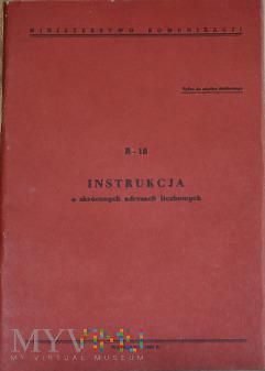 R18-1984 Instrukcja o skróconych adresach liczb.
