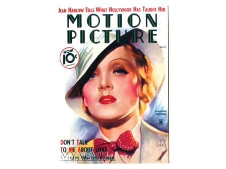 Marlene Dietrich Motion Picture Pocztówka
