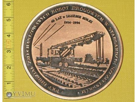 Medal kolejowy - firmowy DOM Stargard Szcz.