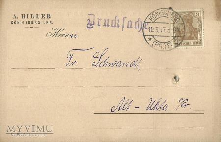 A. Hiller Konigsberg 1917 r.