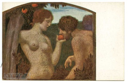 Ludwig v. Zumbusch - Adam i Ewa z jabłuszkiem