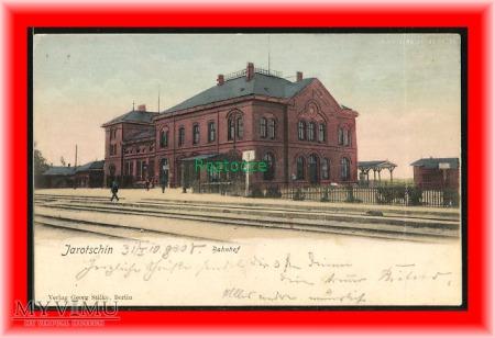 JAROCIN Jarotschin Dworzec kolejowy