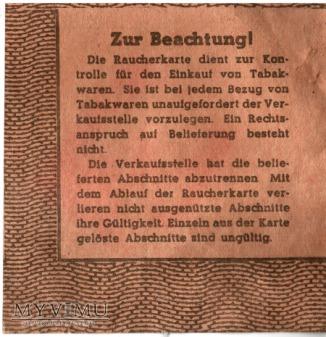 Raucherkarte 63 1944