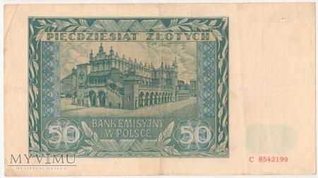 50 złotych 1 sierpnia 1941 rok seria C