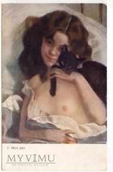 Okoń - Akt z kotem (dla yuppi)