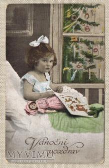 około 1910 Vanocni pozdrav kartka świąteczna