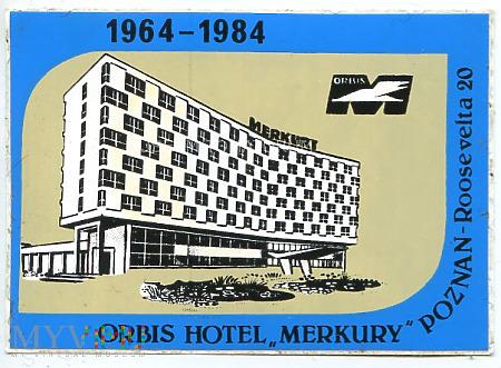 Duże zdjęcie Nalepka hotelowa - Poznań - Hotel Merkury