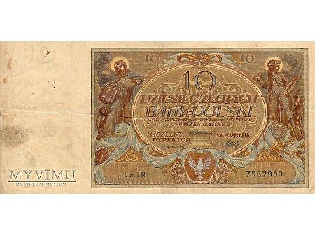 10 złotych 20.07.1929 r.