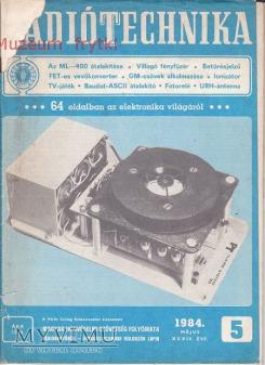 Duże zdjęcie RADIO TECHNIKA 1984r. nr.5