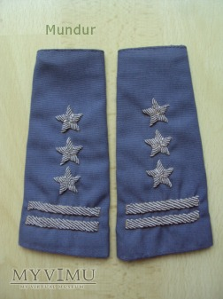 Pochewki z oznaką stopnia: pułkownik MO