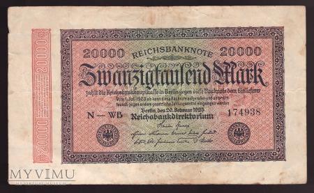 Niemcy, 20000 marek 1923r.